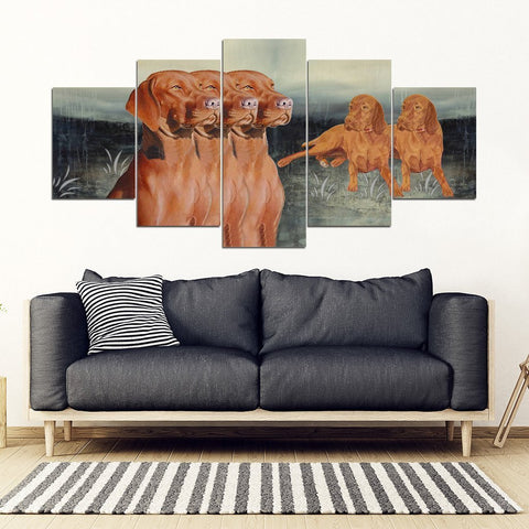 Vizsla Dog Print-5 Piece Framed Canvas- Free Shipping-Paww-Printz-Merchandise