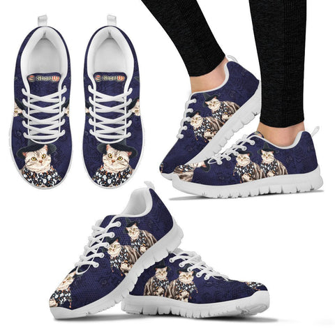 American Shorthair Cat (Halloween) Print-Running Shoes For Women/Kids-Free Shipping
