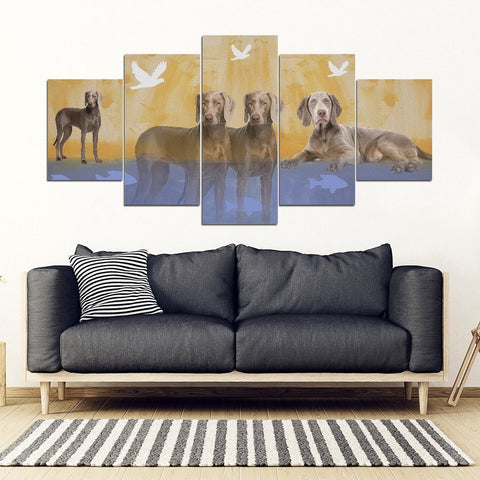 Weimaraner Dog Print-5 Piece Framed Canvas- Free Shipping-Paww-Printz-Merchandise
