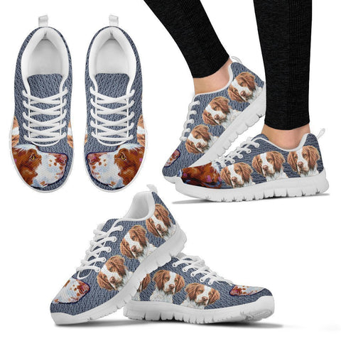 Lovely Brittany Dog-Women's Running Shoes-Free Shipping-Paww-Printz-Merchandise
