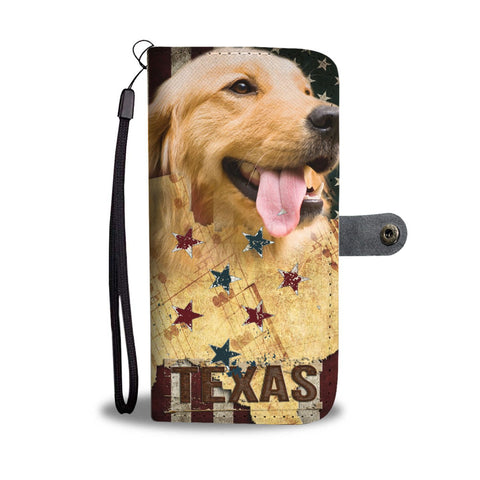 Golden Retriever Print Wallet Case- Free Shipping-TX State
