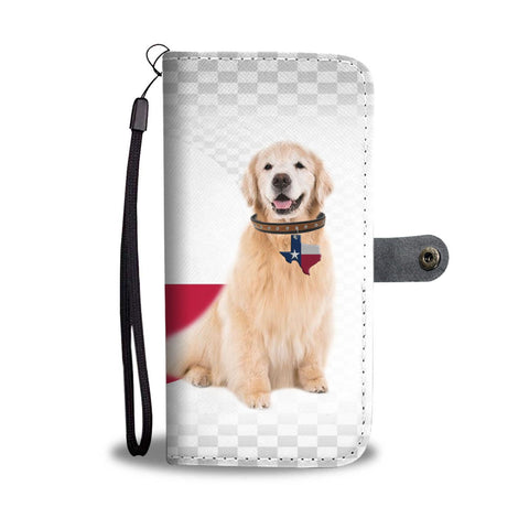 Golden Retriever With Texas Locket Print Wallet Case-Free Shipping-TX State