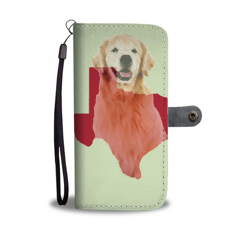 Amazing Golden Retriever Dog Love Print Wallet Case-Free Shipping-TX State