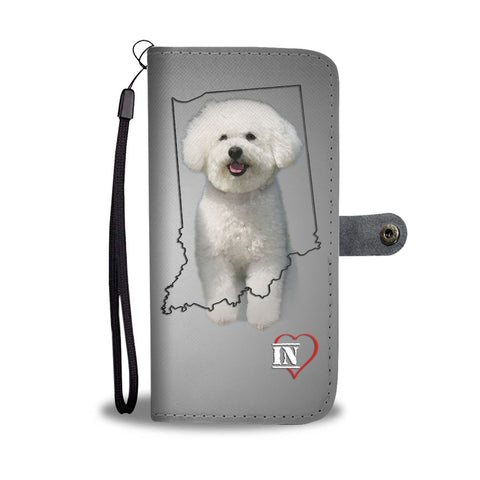 Cute Bichon Frise Print Wallet Case-Free Shipping- IN State