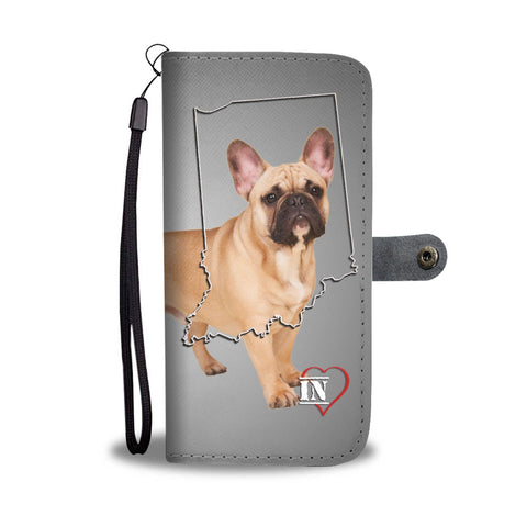 French Bulldog Print Wallet Case-Free Shipping- IN State
