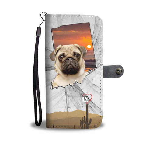 Amazing Pug Print Wallet Case-Free Shipping-IN State