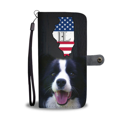 Border Collie Print Wallet Case-Free Shipping-IL State