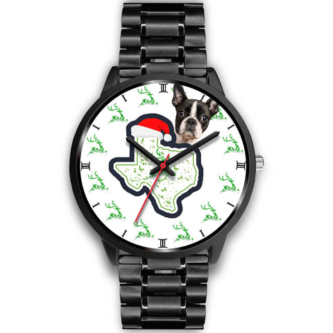 Boston Terrier Texas Christmas Special Wrist Watch-Free Shipping