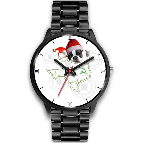 Cute Boston Terrier Texas Christmas Special Wrist Watch-Free Shipping