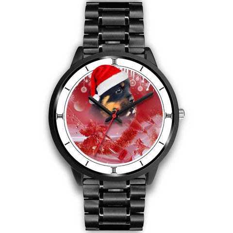 Cute Rottweiler Christmas Special Wrist Watch-Free Shipping