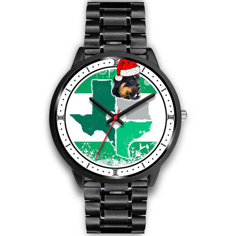 Rottweiler Dog Texas Christmas Special Wrist Watch-Free Shipping