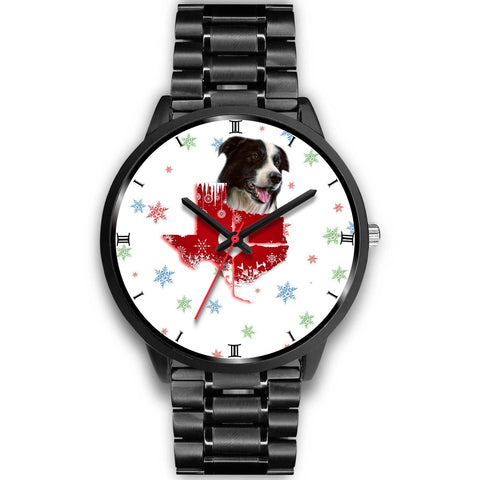 Border Collie Texas Christmas Special Wrist Watch-Free Shipping