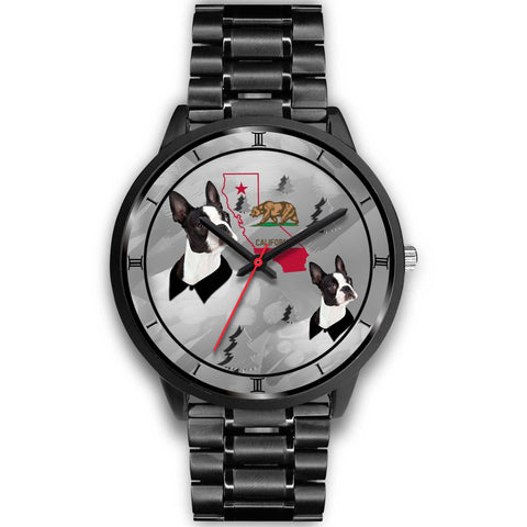 Boston Terrier California Christmas Special Wrist Watch-Free Shipping