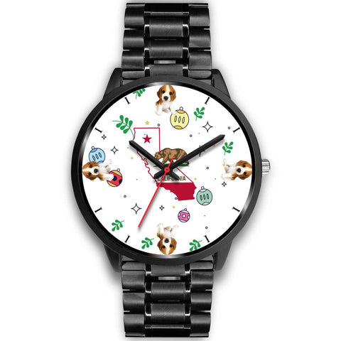 Cute Beagle California Christmas Special Wrist Watch-Free Shipping