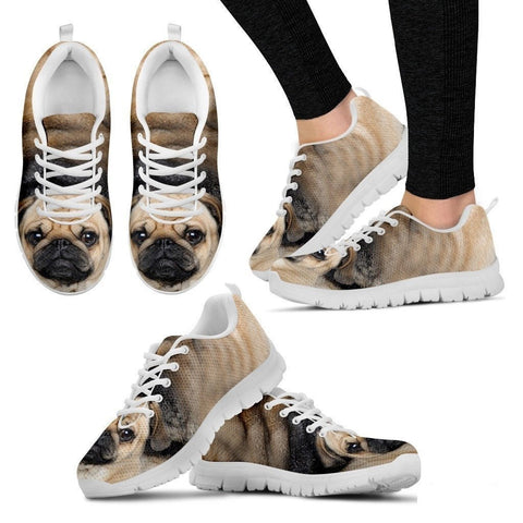 Pug Dog Running Shoes For Women-3D Print-Free Shipping-Paww-Printz-Merchandise