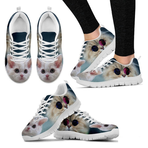 Cute Selkirk Rex Cat Print Running Shoe For Women- Free Shipping-Paww-Printz-Merchandise