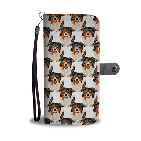 Australian Shepherd Dog Pattern Print Wallet Case-Free Shipping