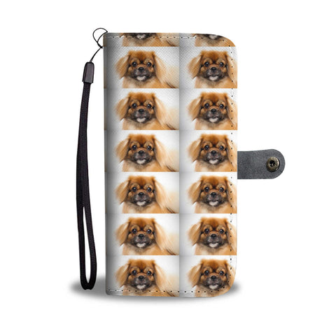 Tibetan Spaniel Patterns Print Wallet Case-Free Shipping