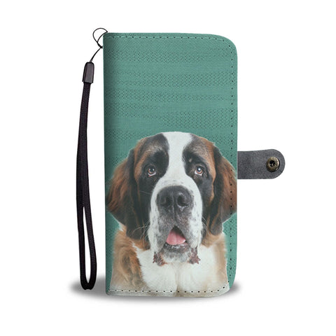Amazing St. Bernard Dog Print Wallet Case-Free Shipping