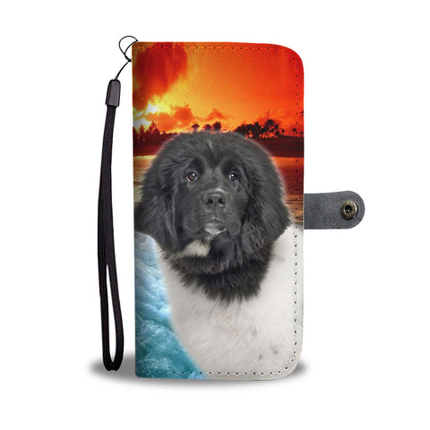 Cute Newfoundland Dog Wallet Case- Free Shipping