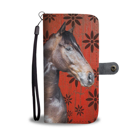 Thoroughbred Horse Print Wallet Case-Free Shipping
