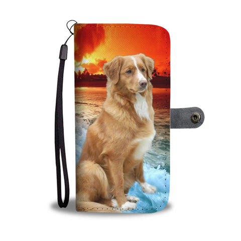 Cute Nova Scotia Duck Tolling Retriever Wallet Case- Free Shipping