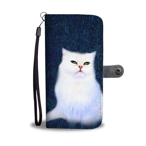 Lovely Persian Cat Print Wallet Case-Free Shipping