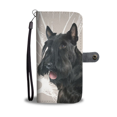 Cute Scottish Terrier Print Wallet Case-Free Shipping
