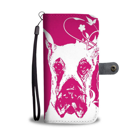 White Great Dane Print Wallet Case-Free Shipping