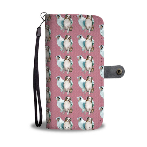 Australian Shepherd Dog 2nd Pattern Print Wallet Case-Free Shipping