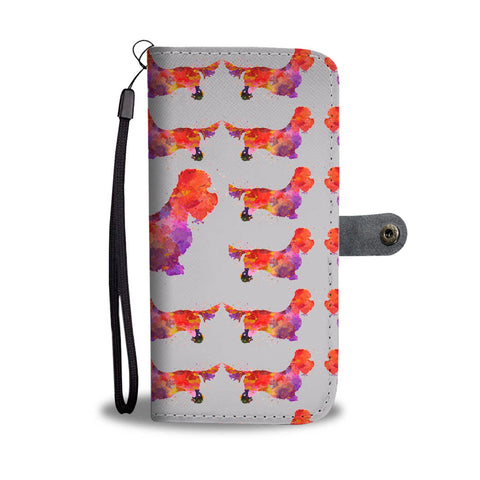 Dandie Dinmont Terrier Dog 2nd Pattern Print Wallet Case-Free Shipping