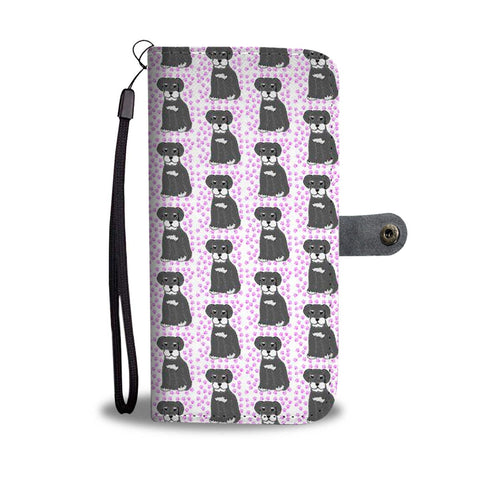 Miniature Schnauzer Dog Pattern Print Wallet Case-Free Shipping