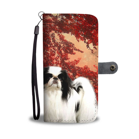 Japanese Chin Print Wallet Case- Free Shipping