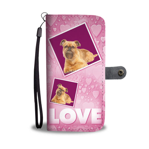 Brussels Griffon Dog with Love Print Wallet Case-Free Shipping