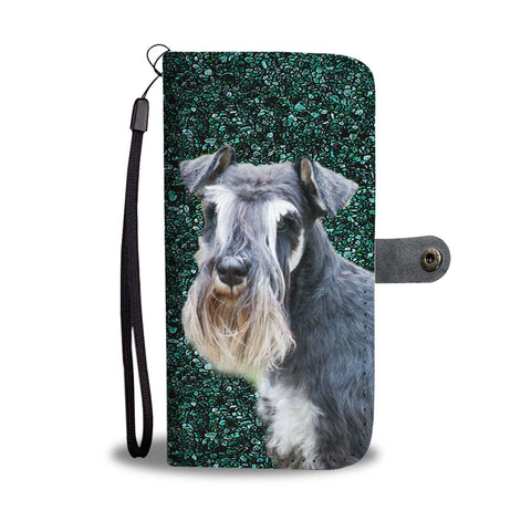 Lovely Schnauzer Dog  Dog Print Wallet Case-Free Shipping