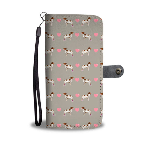 Lovely Brittany Dog Pattern Print Wallet Case-Free Shipping