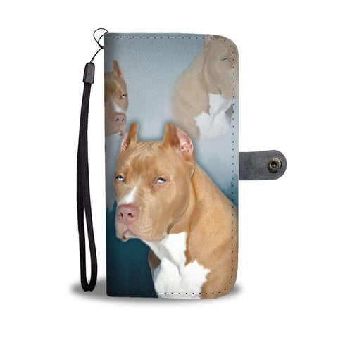Pit Bull Terrier Print Wallet Case- Free Shipping
