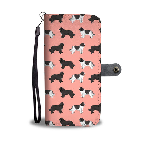 Newfoundland Dog Pattern Print Wallet Case-Free Shipping