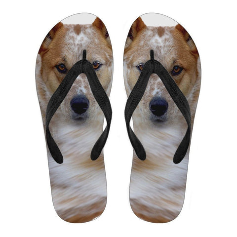 Australian Cattle Print Flip Flops For Men- Free Shipping-Paww-Printz-Merchandise