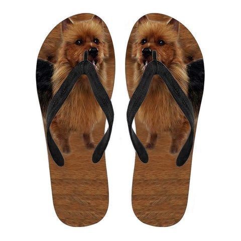 Australian Terrier Flip Flops For Men-Free Shipping-Paww-Printz-Merchandise