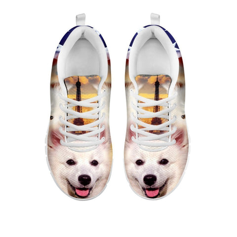 Cute American Eskimo Print Running Shoes For Women- Free Shipping-For 24 Hours Only-Paww-Printz-Merchandise