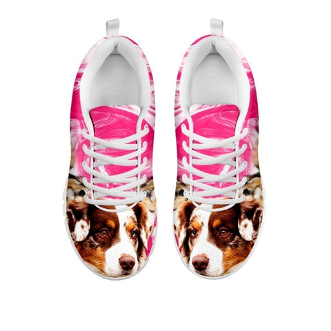 Australian Shepherd Print Sneakers For Women- Free Shipping-For 24 Hours Only-Paww-Printz-Merchandise