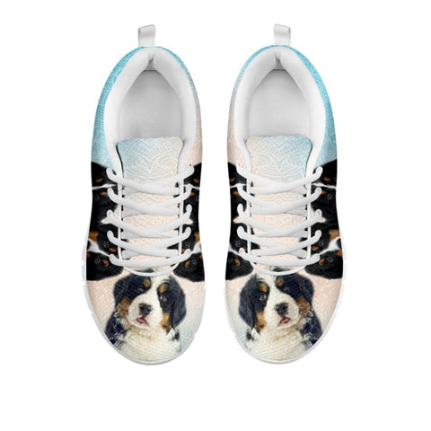 Amazing Three Bernese Mountain Dog Print Running Shoes For Women-Free Shipping-For 24 Hours Only-Paww-Printz-Merchandise