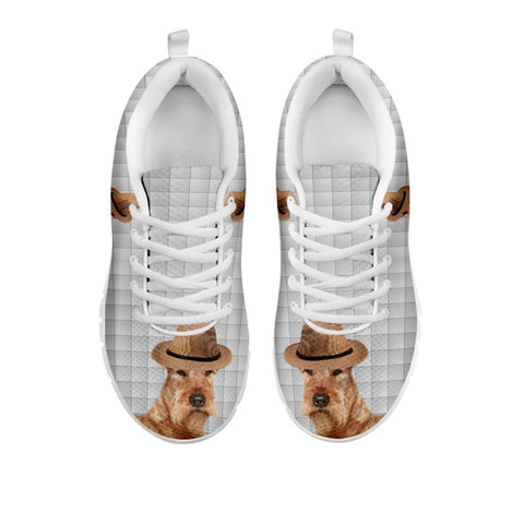Amazing Irish Terrier With Hat Print Running Shoes For Women-Free Shipping-For 24 Hours Only-Paww-Printz-Merchandise