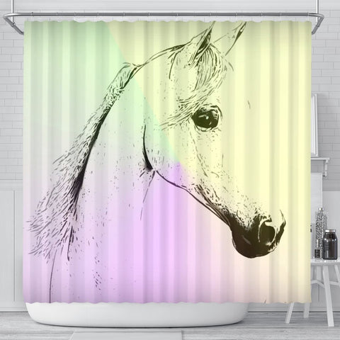Arabian horse Print Shower Curtain-Free Shipping