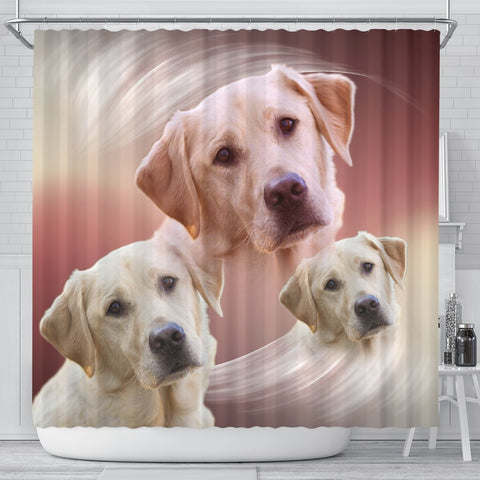 Amazing Labrador Retriever Print Shower Curtains-Free Shipping