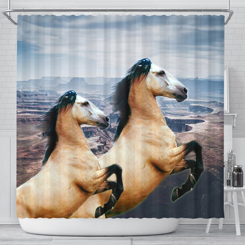 Andalusian Horse Print Shower Curtains-Free Shipping