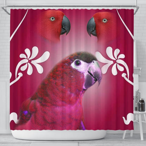 Mini-macaw Parrot Print Shower Curtain-Free Shipping