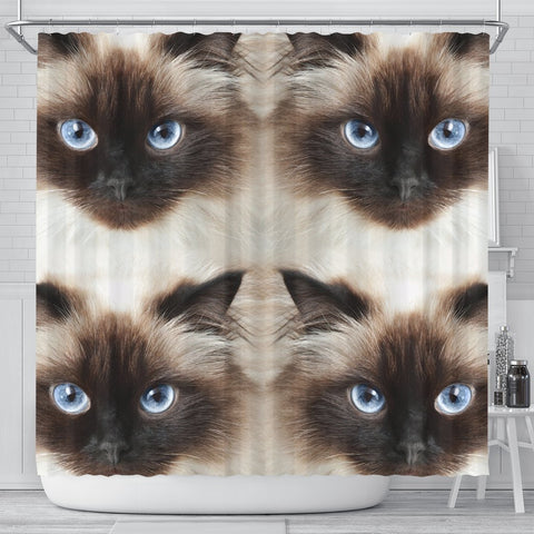 Himalayan Cat Print Shower Curtain-Free Shipping