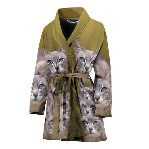 Amazing Tonkinese Cat Print Women's Bath Robe-Free Shipping